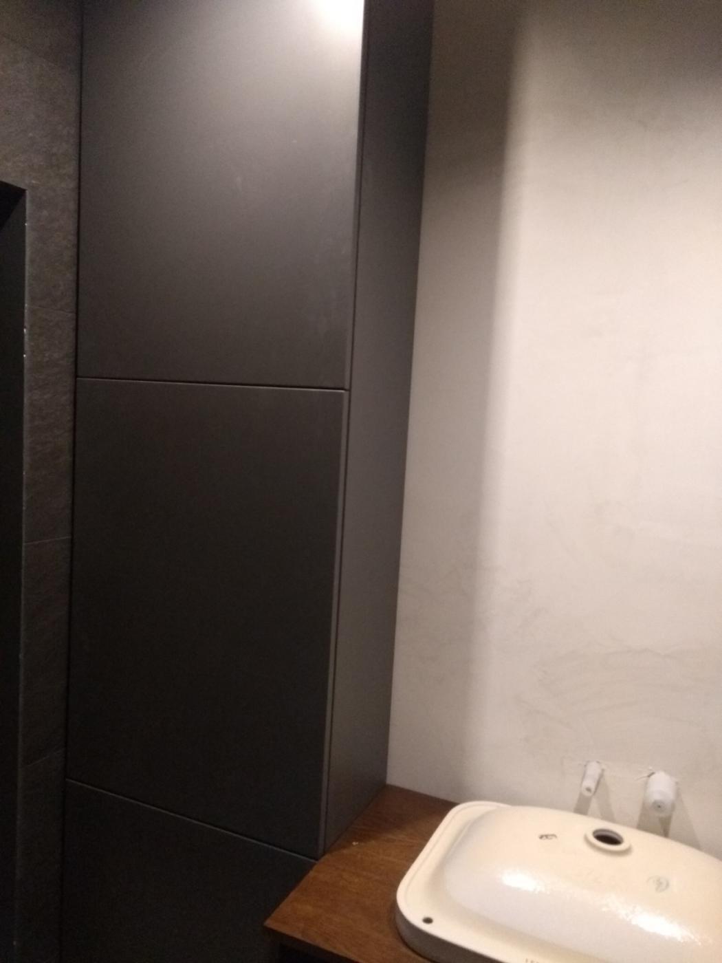 szafka łazienkowa. kolor antracyt